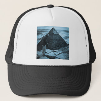 Golf at the Pyramid Vintage Blue Toned Trucker Hat