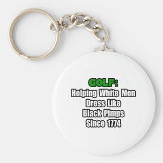 Golf Attire Humor Basic Round Button Keychain