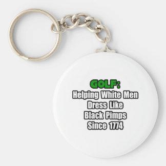 Golf Attire Humor Keychain