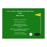 Golf Bachelor Party Invitation -- 18th Golf Hole Invite