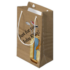 Golf Bag and clubs on Cardboard