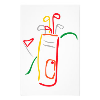 Golf Bag and Green Stationery