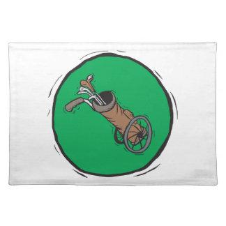 Golf Bag Cloth Placemat