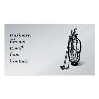 Golf Bag Profile Cards Business Card Template