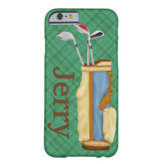 Golf Bag Sports Personalized Barely There iPhone 6 Case