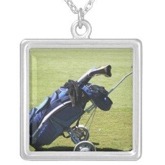 Golf Bag Sterling Silver Necklace