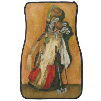 Golf Bag with Glove by Jennifer Goldberger Car Floor Mat