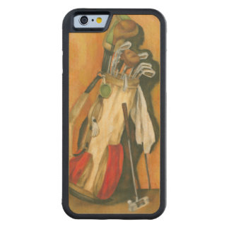 Golf Bag with Glove by Jennifer Goldberger Carved Maple iPhone 6 Bumper Case