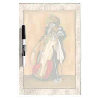 Golf Bag with Glove by Jennifer Goldberger Dry-Erase Board
