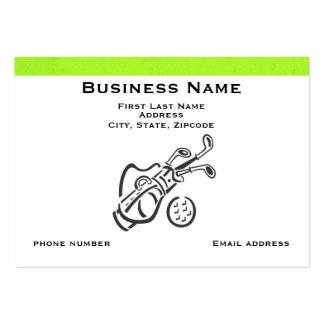 Golf Bag With Green Stripe Large Business Cards (Pack Of 100)