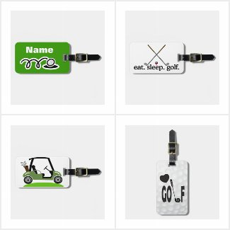 Golf bags and Tags