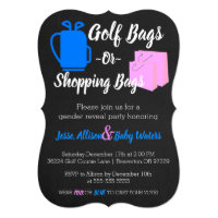 Golf Bags or Shopping Bags Gender Reveal Invite