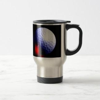 Golf Ball 15 Oz Stainless Steel Travel Mug