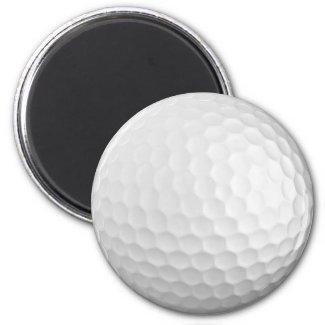 Golf Ball 2 1/2 inch Round Magnet magnet