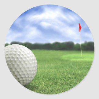 Golf Ball 4 Classic Round Sticker