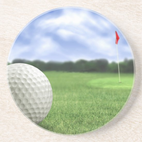Golf Ball 4 Sandstone Coaster