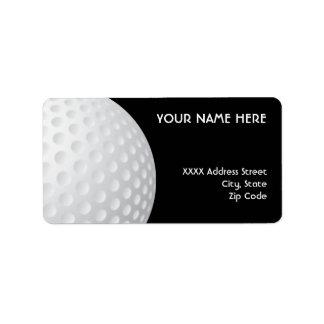Golf Ball Address Labels