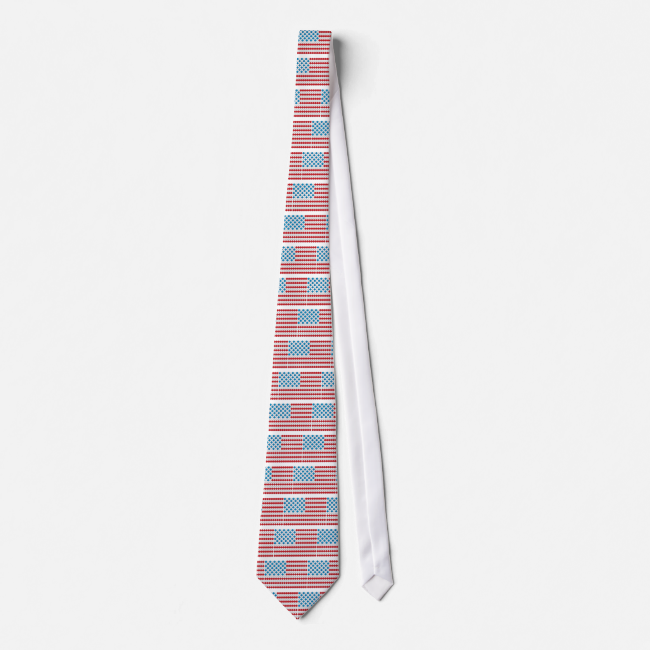 Golf Ball American Flag Tie
