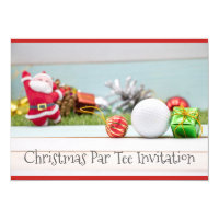 Golf ball and Christmas ornament Invitation