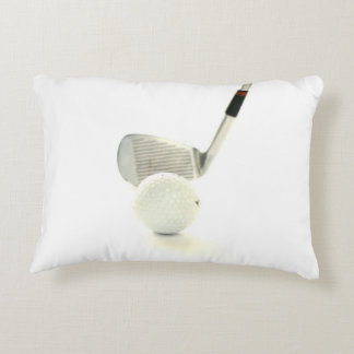 Golf Ball and Club Accent Pillow