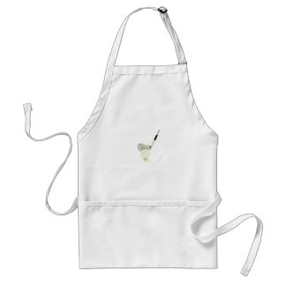 Golf Ball and Club Apron