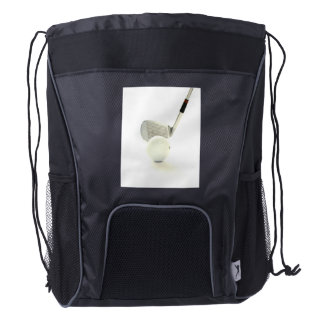 Golf Ball and Club Drawstring Backpack