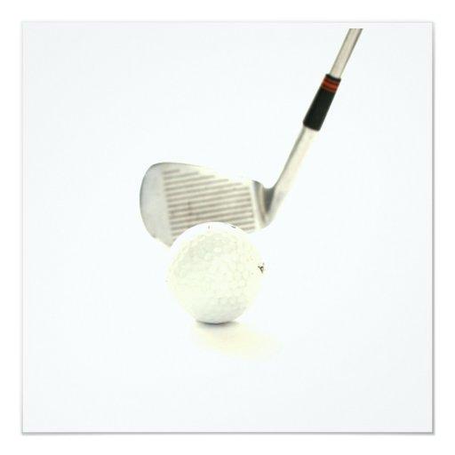 Golf Ball and Club Invitation