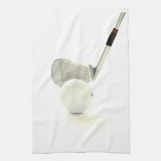 Golf Ball and Club Kitchen Towel