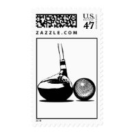 Golf Ball and Club Postage
