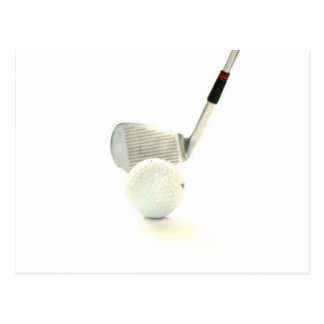 Golf Ball and Club Postcard