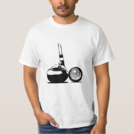 Golf Ball and Club T-Shirt