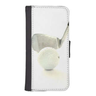 Golf Ball and Club Wallet Phone Case For iPhone SE/5/5s