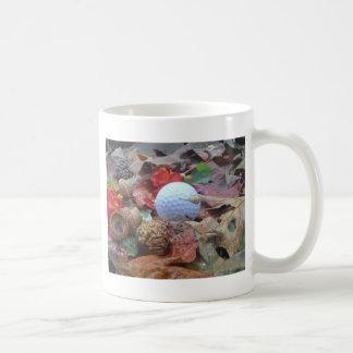 Golf Ball and fall leaves and acorns Coffee Mug