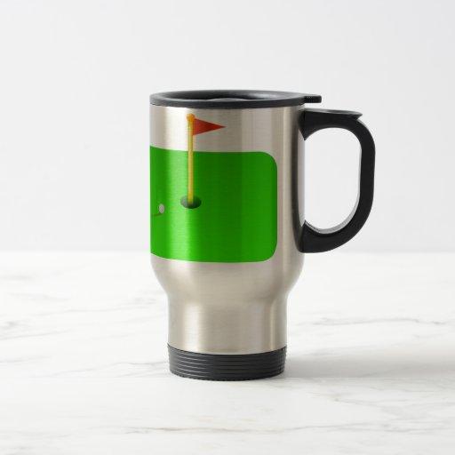 Golf Ball and Golf Flag Coffee Mug