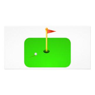 Golf Ball and Golf Flag Photo Greeting Card
