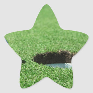 Golf Ball and Hole Star Sticker