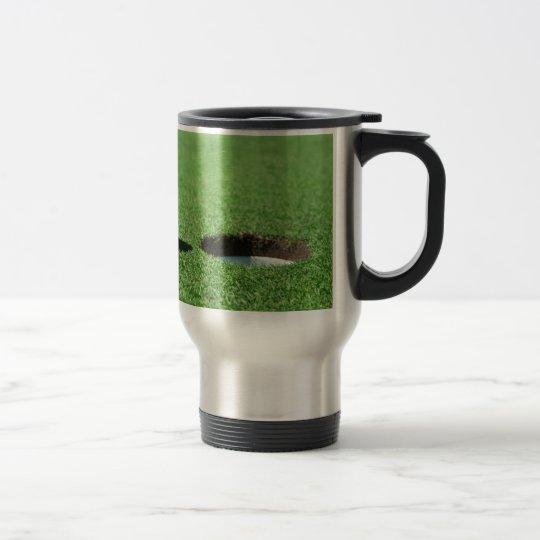 Golf Ball and Hole Travel Mug