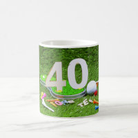 Golf ball and tee 40th birthday anniversary golfer coffee mug