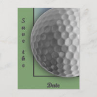 Golf Ball Announcement Postcard