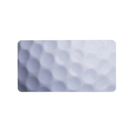 Golf Ball Background Customized Template Address Label