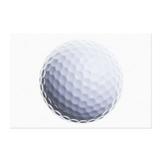 Golf Ball Background Customized Template Gallery Wrap Canvas