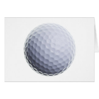 Golf Ball Background Customized Template Cards