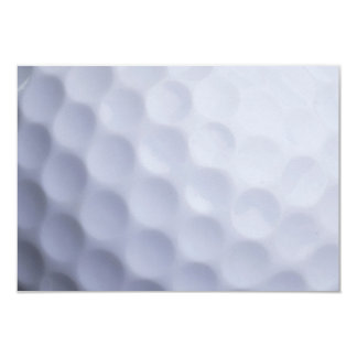"Golf Ball Background Customized Template 3.5"" X 5"" Invitation Card"