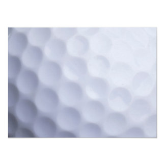 "Golf Ball Background Customized Template 6.5"" X 8.75"" Invitation Card"