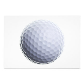 Golf Ball Background Customized Template Invite