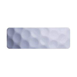Golf Ball Background Customized Template Return Address Label