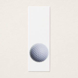 Golf Ball Background Customized Template Mini Business Card