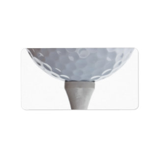 Golf Ball Background - Golfing Sports Template Label