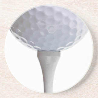 Golf Ball Background - Golfing Sports Template Sandstone Coaster