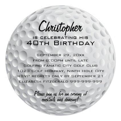 Golf Ball Birthday Party